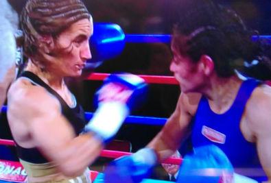 Griffa y Castillo protagonizaron una dura pelea. (Foto TV)